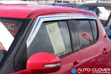 Auto Clover Chrome Wind Deflectors for Set Suzuki Swift 2010 - 2016 (4 pieces)