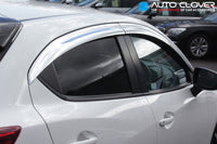 Auto Clover Chrome Wind Deflectors Set for Mazda 2 2014+ (4 pieces)