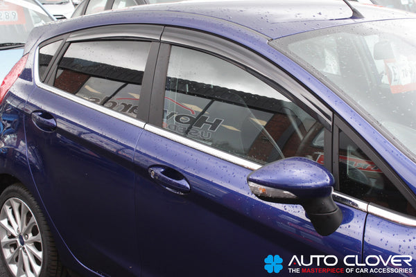 Auto Clover Wind Deflectors Set for Ford Fiesta MK7 2009 - 2017 5 Door (4 pieces)