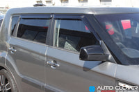 Auto Clover Wind Deflectors Set for Kia Soul 2009 - 2013 (4 pieces)