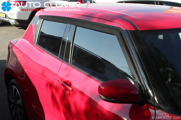 Auto Clover Wind Deflectors Set for Suzuki Swift 2017+ (4 pieces)