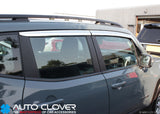 Auto Clover Chrome Wind Deflectors Set for Jeep Renegade 2014+ (4 pieces)