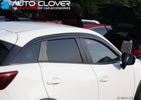 Auto Clover Wind Deflectors Set for Mazda CX-3 2015+ (6 pieces)