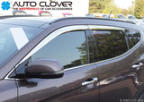 Auto Clover Chrome Wind Deflectors Set for Hyundai Santa Fe 2013 - 2018 (4 pcs)