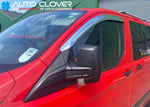 Auto Clover Chrome Wind Deflectors Set for Ford Transit Custom 2012+ (2 pieces)