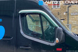 Auto Clover Chrome Wind Deflectors Set for Vauxhall / Opel Movano 2010+ (2 pieces)