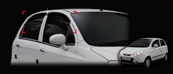 Auto Clover Wind Deflectors Set for Chevrolet Matiz 2005 - 2010 (4 pieces)