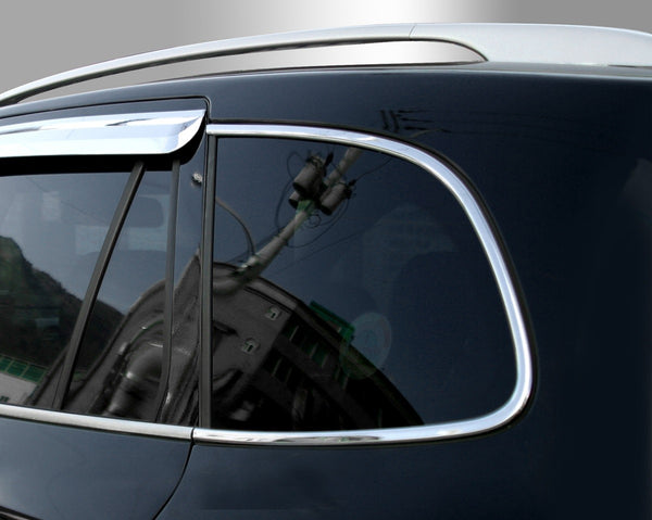 Auto Clover Chrome C Pillar Window Frame Cover for Hyundai Santa Fe 2007 - 2012