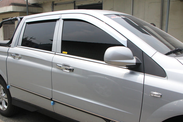 Auto Clover Chrome Wind Deflectors for Ssangyong Korando / Musso 2013 - 2018