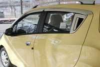 Auto Clover Chrome Wind Deflectors Set for Chevrolet Spark 2010 - 2015  (4 pieces)