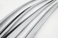 Auto Clover Chrome Wind Deflectors Set for Kia Optima 2010 - 2015 (4 pieces)