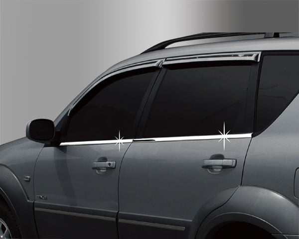 Auto Clover Chrome Side Door Window Frame Trim for SsangYong Rexton 2003 - 2013