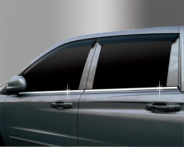 Auto Clover Chrome Side Door Window Frame Trim for Ssangyong Kyron 2006 - 2011