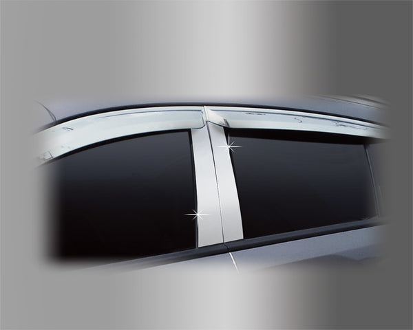 Auto Clover PVC Chrome B Pillar Sticker Trim for Ssangyong Korando C 2011 - 2019
