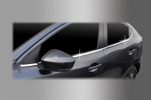 Auto Clover Chrome Side Window Rubber Trim Set for Mazda 2 2014+