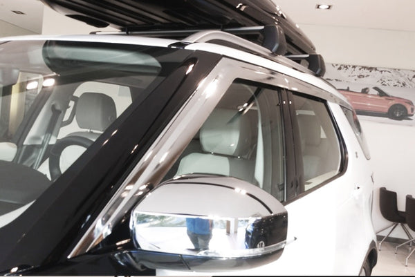 Auto Clover Chrome Wind Deflectors for Land Rover Discovery 5 2017+ (6 pieces)