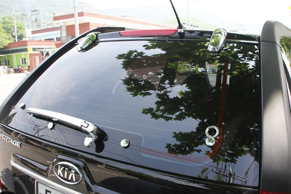 Auto Clover Chrome Rear Window Trim Set for Kia Sportage 2005 - 2010