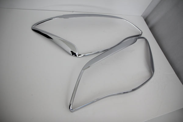 Auto Clover Chrome Headlight Lamp Trim Set for Ssangyong Korando C 2011 - 2013