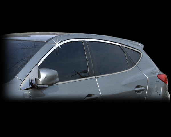 Auto Clover Chrome Window Top Frame Trim Cover for Hyundai Santa Fe 2001 - 2006