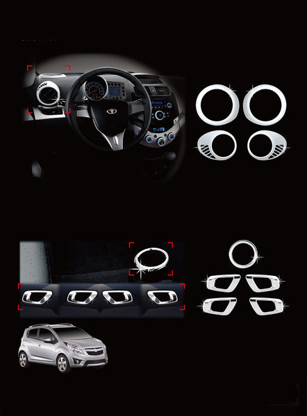 Auto Clover Chrome Interior Styling Set for Chevrolet Spark 2013 - 2015