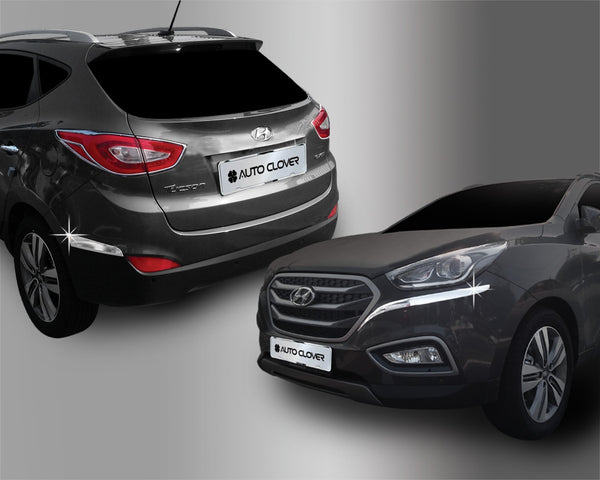 Auto Clover Chrome Front and Rear Bumper Trim Set for Hyundai IX35 2010 - 2015