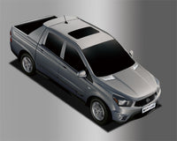 Auto Clover Chrome Air Vent Trim for Ssangyong Korando Sports / Musso 2013 - 18