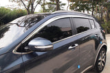 Auto Clover Chrome Wind Deflectors Set for Kia Sportage 2016+ (4 pieces)