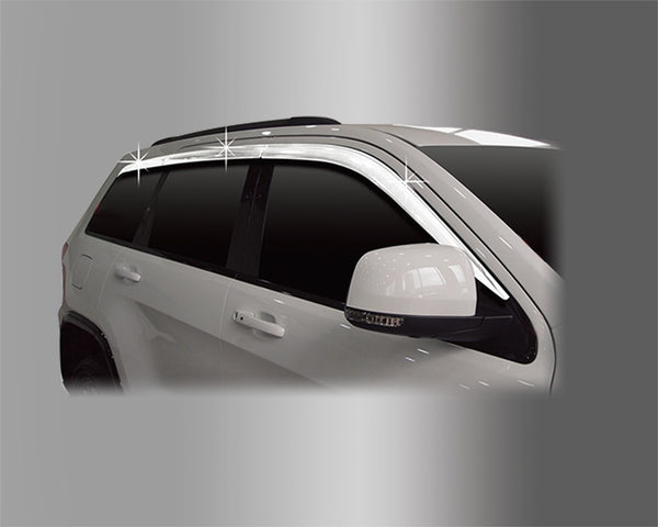 Auto Clover Chrome Wind Deflectors Set for Jeep Grand Cherokee 2011+ (6 pieces)