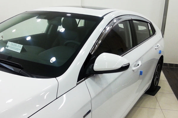 Auto Clover Chrome Wind Deflectors Set for Hyundai Ioniq 2016+