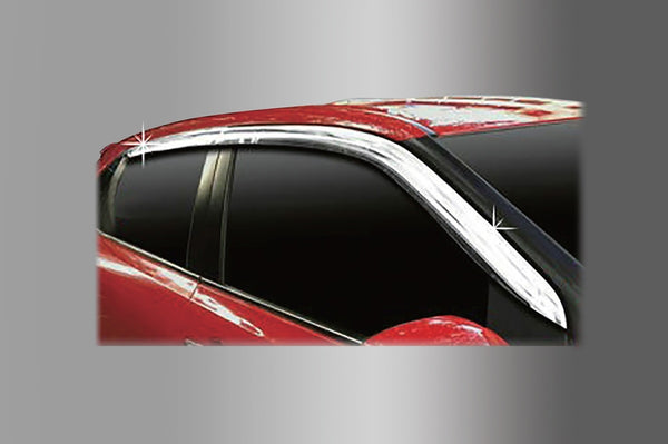 Auto Clover Chrome Wind Deflectors Set for Suzuki Baleno 2015+ (4 pieces)