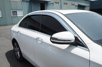 Auto Clover Chrome Wind Deflectors for Mercedes E Class W213 Saloon 2016+ (4 pc)