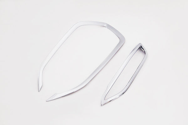 Auto Clover Chrome Front and Rear Fog Light Trim for