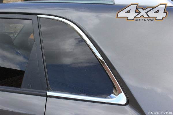 Auto Clover Chrome C Pillar Window Frame Cover Trim for Kia Sorento 2010 - 2014