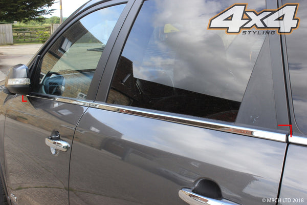 Auto Clover Chrome Side Window Rubber Cover Trim Set for Kia Sorento 2010 - 2014