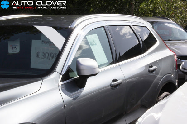 Auto Clover Chrome Wind Deflectors Set for Volvo XC60 2018+ (6 pieces)