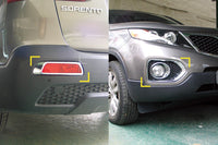 Auto Clover Chrome Front & Rear Fog Light Cover Trim for Kia Sorento 2010 - 2012