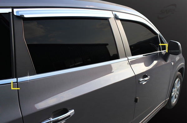 Auto Clover Chrome Side Window Frame Cover Trim Set for Chevrolet Orlando