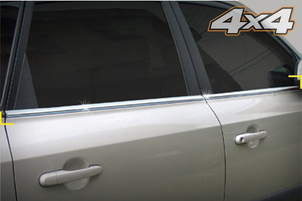 Auto Clover Chrome Side Window Frame Cover Trim for Hyundai Tucson 2004 - 2010