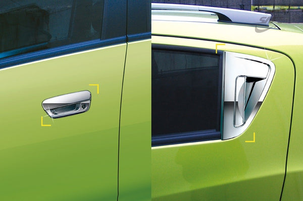 Auto Clover Chrome Door Handle Covers Trim Set for Chevrolet Spark 2010 -  2015