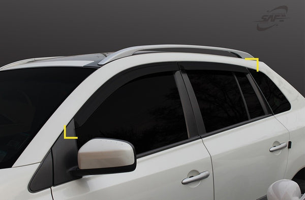 Auto Clover Wind Deflectors Set for Renault Koleos 2008 - 2015 (4 pieces)