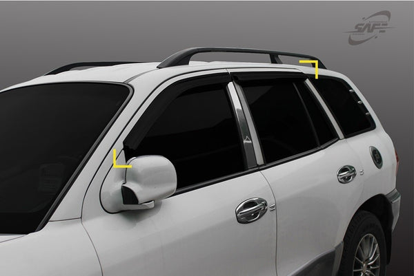 Auto Clover Wind Deflectors Set for Hyundai Santa Fe 2001 - 2006 (4 pieces)