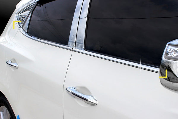 Auto Clover Chrome Side Window Frame Trim Cover for Hyundai IX35 2010 - 2015