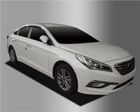 Auto Clover Chrome & Black Wind Deflector Set for Hyundai Sonata LF 2014+