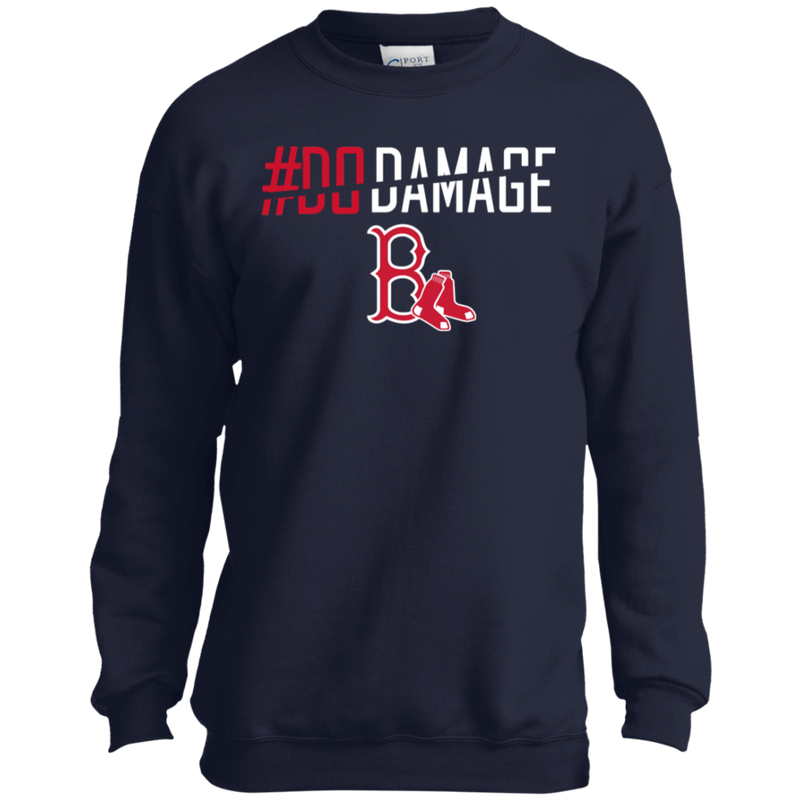buy online 4dbcc 715c0 Do Damage Boston Red Sox Shirt PC90Y Port and Co. Youth ...
