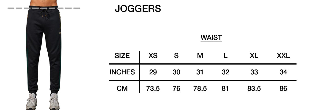 Size Guide Joggers