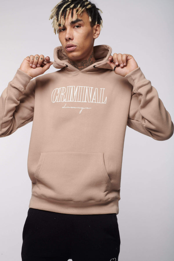 BOY LONDON HOODIES CRAFT HOODIE SAND