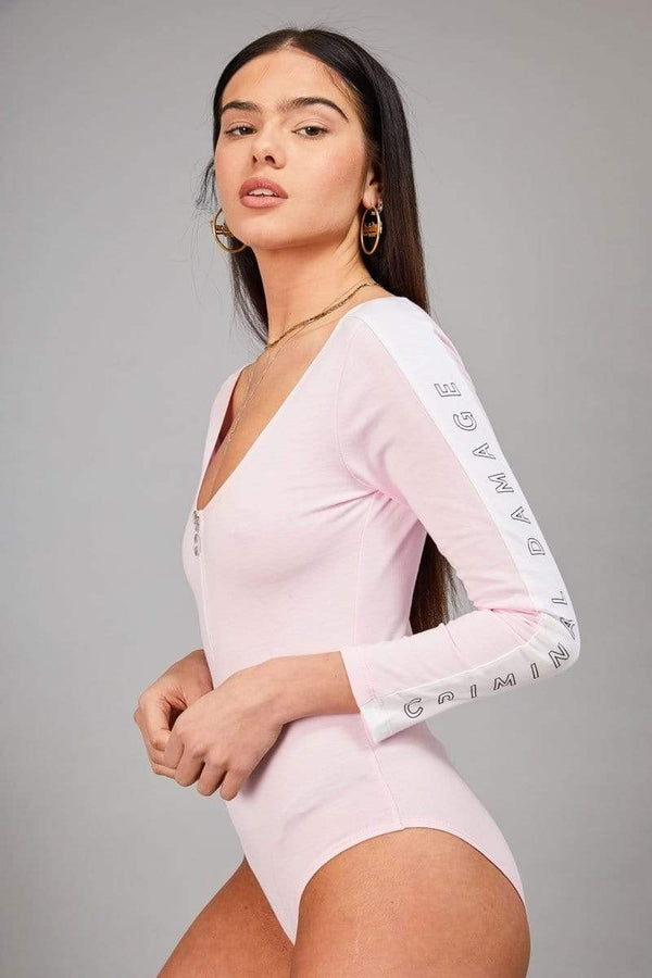 Criminal Damage BODYSUIT Hapnin Body - Pink