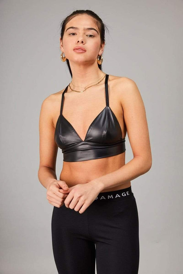 Criminal Damage CROP-TOP Rex Bralet - Black