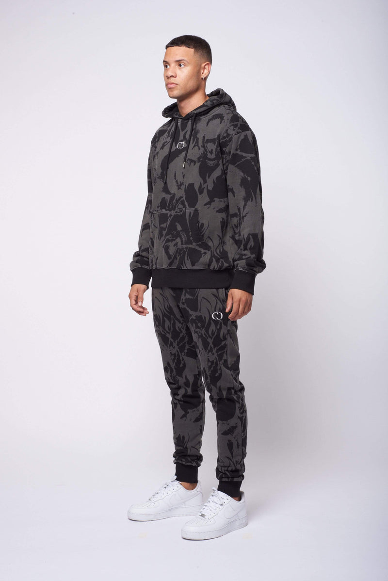 Criminal Damage HOODIE Abstract Hood - Black