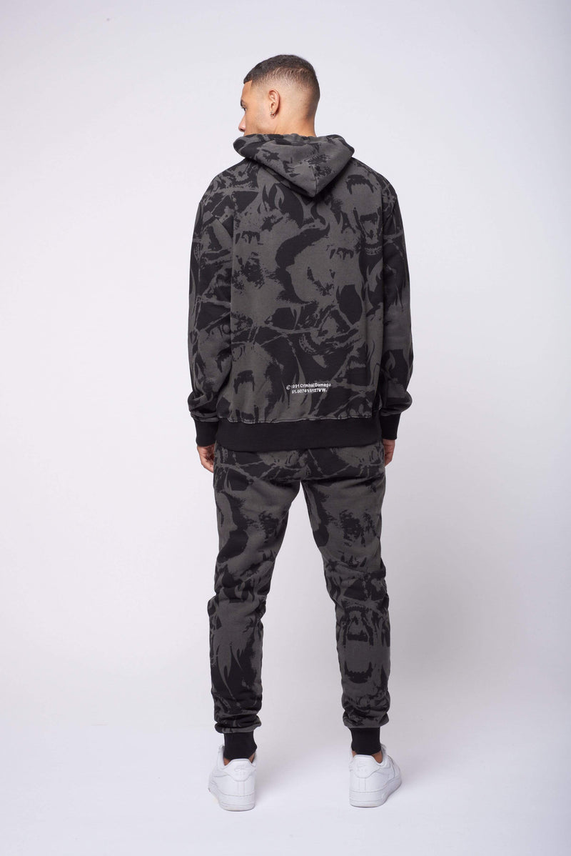 Criminal Damage HOODIE Abstract Jogger - Black